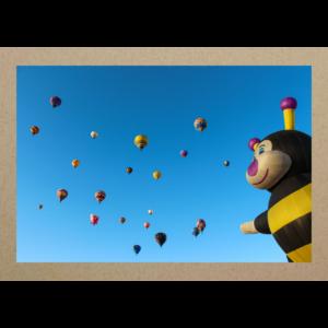 Heissluftballons mit Biene