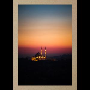 Moschee im Abendrot Istanbul