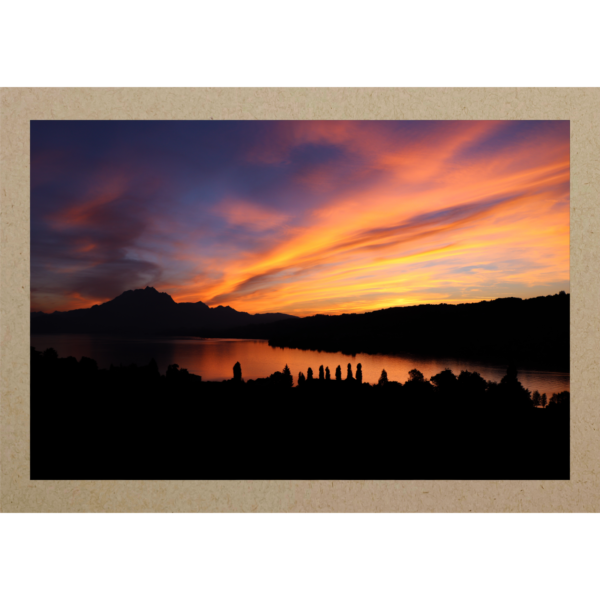 Pilatus im Sonnenuntergang
