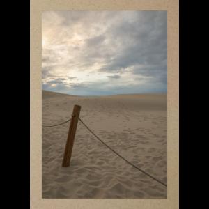 Seilpfosten im Sand