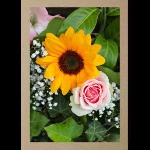 Sonnenblume mit Rose