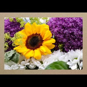 Sonnenblume mit Zierlauch