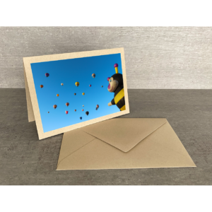 Vorderseite-Heissluftballons mit Biene